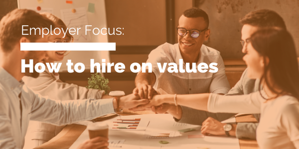 how to hire on values blog header