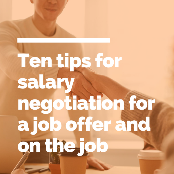 Ten tips for salary negotiation feature image