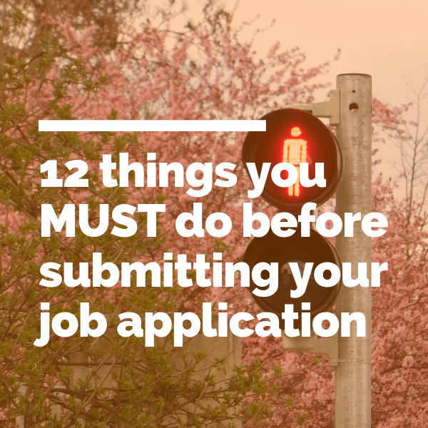 things to do before submitting your job application