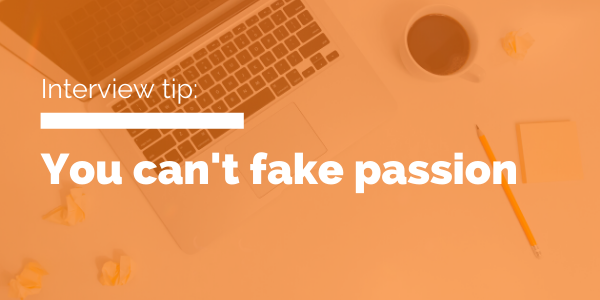 you can't fake passion blog header