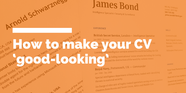 How to make your CV 'good-looking' blog header