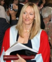 J.K. Rowling accepting an honorary degree in 2006.