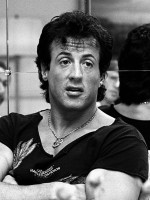 Sylvester Stallone in 1988 in Sweden for Rambo III