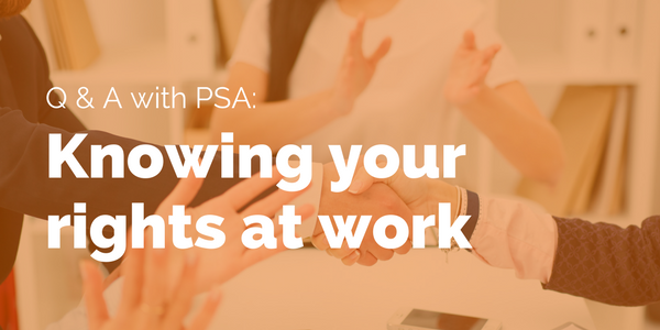 Worker rights Q&A with PSA - title