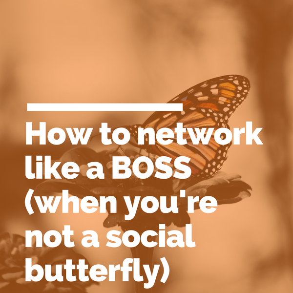 How to network like a BOSS (when you're not a social butterfly).