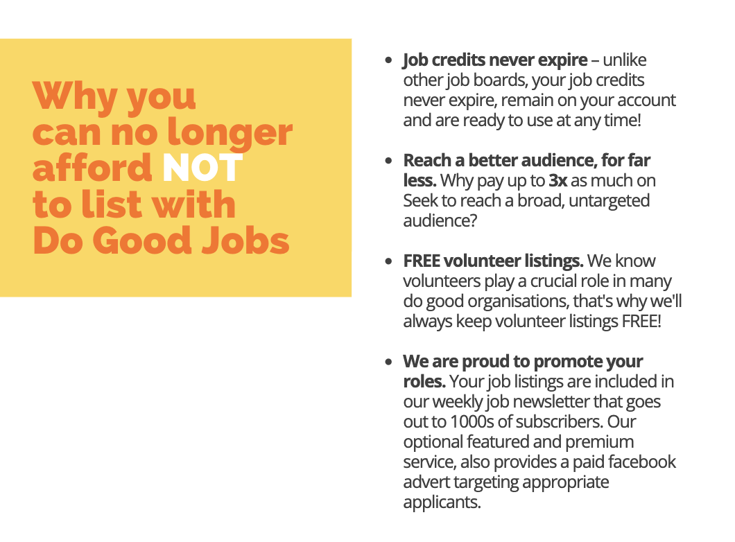 Why you can no longer afford NOT to list with Do Good Jobs