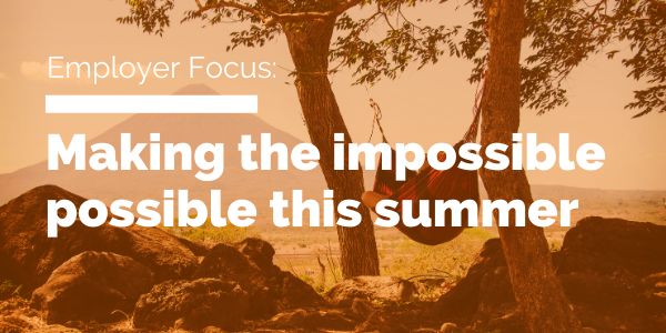 Making the impossible possible this summer blog header