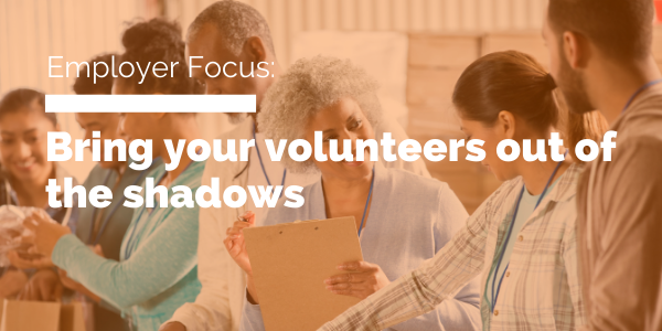 Bring your volunteers out of the shadows blog header
