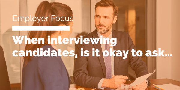 When interviewing candidates, is it okay to ask blog header